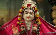 To view Radha Close Up Wallpaper of ISKCON Houston in difference sizes visit - http://harekrishnawallpapers.com/sri-radha-close-up-iskcon-houston-wallpaper-003/