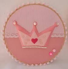 enfeite bebe coroa de princesa em feltro - Pesquisa Google