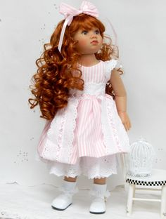 """Kidz n Cats doll dress or other slim 18"""" dolls  """"Pink and Frothy"""" by SewSweetDolly on Etsy https://www.etsy.com/listing/292046337/kidz-n-cats-doll-dress-or-other-slim-18"""