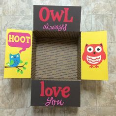 Owl Always Love You Care Package Flaps