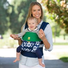 Lillebaby Complete Original Baby Carrier - Tie Us Together (Navy Ikat Rings)