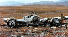 """Examining the long-ago, remote wreckage of a German Junkers Ju-88 """"Schnellbomber"""" in Norway"""