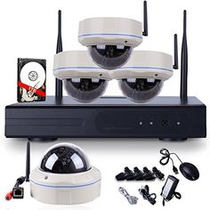 Special Offers - ANRAN Outdoor IP Security Camera System 720P WIFI NVR Kit with 4 of 720P Wireless Vandal Proof Dome IP Network Camera IR Day Night Vision with 1TB Hard Drive - In stock & Free Shipping. You can save more money! Check It (June 13 2016 at 04:18AM) >> http://smokealarmusa.net/anran-outdoor-ip-security-camera-system-720p-wifi-nvr-kit-with-4-of-720p-wireless-vandal-proof-dome-ip-network-camera-ir-day-night-vision-with-1tb-hard-drive/