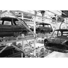Longbridge-bodyshell photo by Classic Mini, Classic Cars, The Austin, Great British, World History, Cool Websites, Birmingham, Mini Stuff, Britain