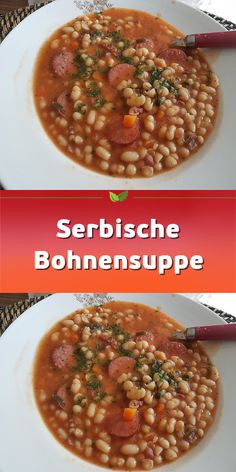 Serbian bean soup – Famous Last Words Vegetable Soup Recipes, Chicken Soup Recipes, Easy Soup Recipes, Healthy Dinner Recipes, Healthy Snacks, Healthy Vegetarian Recipes, Bean Soup, Evening Meals, Ground Beef Recipes