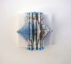 Altered Map on Canvas by yinsteadofi on Etsy