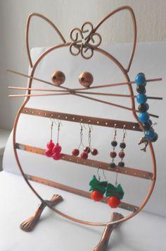 Gumtree: Miedziany kot ekspozytor do biżuterii UNIKAT !!!!!