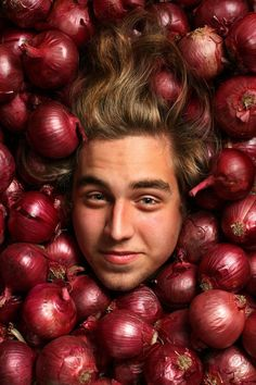 Image result for human portraits with fruits and vegetables as props