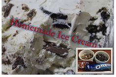 This is a simple recipe on how to make your own ice cream at home without the use of an ice cream maker. Ice Cream At Home, Ice Cream Maker, Homemade Ice Cream, Cookies And Cream, Dessert Recipes, Desserts, Ice Cream Recipes, Oreo, Vanilla