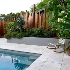 Having a pool sounds awesome especially if you are working with the best backyard pool landscaping ideas there is. How you design a proper backyard with a pool matters. Backyard Fences, Backyard Landscaping, Pool Fence, Landscaping Ideas, Tropical Pool Landscaping, Tropical Backyard, Tropical Gardens, Beach Gardens, Pergola Patio