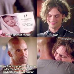 When Morgan honors both his dad and Reid, how can you not cry at that!! Dr Reid, Dr Spencer Reid, Spencer Reid Quotes, Morgan Reid, Derek Morgan, Spencer Reid Criminal Minds, Criminal Minds Garcia, Criminal Minds Quotes, Criminal Minds Cast