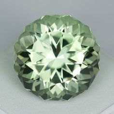 MJ8234 - 16.06ct Praisolite/Quartz - Brazil 16.20 x 11.72 mm clean, custom cut, irradiated, $225 shipped