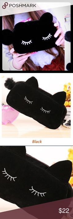 BLACK KITTY 🐱 LASH MAKEUP BAG/PENCIL CASE * NWT* BLACK KITTY 🐱 LASH MAKEUP BAG/PENCIL CASE * NWT*.  ❤️COMING SOON❤️ - other colors available 🎀BUNDLE & SAVE ! THINK VINTAGE ONLINE  Bags Cosmetic Bags & Cases