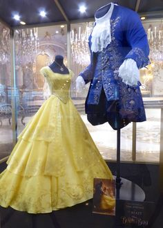 Disney Beauty and the Beast movie costumes  - why you would let people see them in detail BEFORE the movie, I dunno, but still pretty cool to look at. After Cinderella, I'm a bit disappointed :( His outfit is more ornate than hers!!