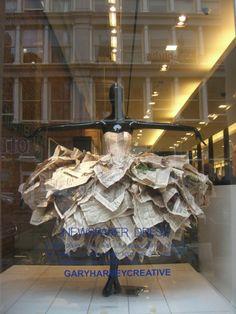 Bloomingdales Soho - fabulous newspaper dress!