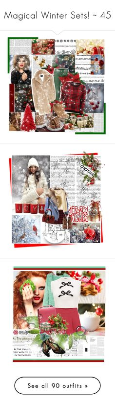 """Magical Winter Sets! ~ 45"" by par0dise ❤ liked on Polyvore featuring Ultimo, PLANT, Coast, H&M, Retrò, VIVETTA, Spode, Pier 1 Imports, Nico and gifts"