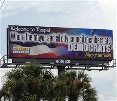 Democratic billboards greet GOP in Tampa