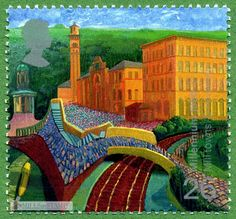 British Stamp 1999  - Millenium Series Worker's Tale Mills  David Hockney  Salt's Mill Saltaire