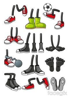 Cartoon Shoes Feet, Cartoon Clipart, Shoes Clipart, Red PNG Transparent Clipart Image and PSD File for Fr Cartoon Art Styles, Cartoon Design, Cartoon Drawings, Feet Drawing, Doodle Art Drawing, Drawing Faces, Drawing Tips, Cartoon Shoes, Cartoon Legs