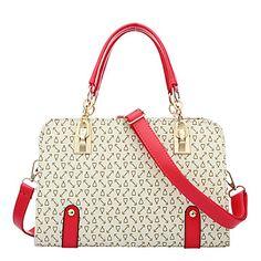VUITTON ® Women PU Baguette Shoulder Bag / Tote - Beige / Pink / Blue 2016 – $19.99