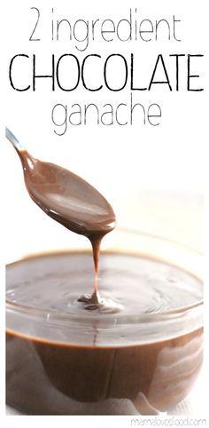 Two Ingredient Microwave Chocolate Ganache Recipe