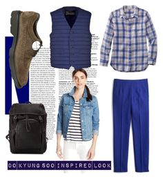 """Airport Fashion - D.O EXO"" by ruriiyy on Polyvore featuring J.Crew, L.L.Bean, Levi's, Herno, Tod's and Hogan"