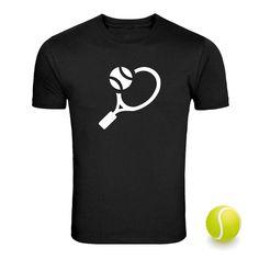 TENNIS I Love REGULAR FIT UNISEX Black T Shirt