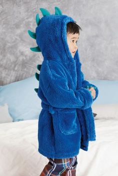 Buy Blue Dinosaur Robe (9mths-8yrs) from the Next UK online shop
