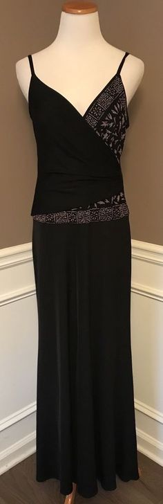 Tadashi PL Spaghetti Strap Evening Dress With Bead Embelishments. #TadashiShoji #SheathDress #Formal