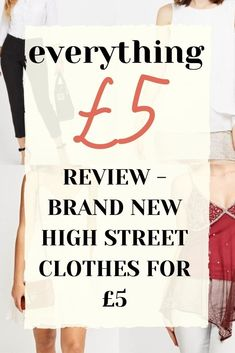 If you love high street fashion brands, but not their prices, make sure you check out Everything £5! You can find loads of absolute steals!