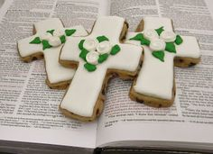 Easter Cross Cookies by Sweet Melissa's Cookies