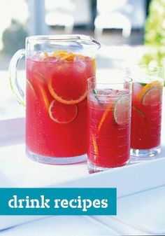 Drink Recipes -- From coffee drinks and mocktails to punches and cocktails--find beverages for all ages and occasions here!
