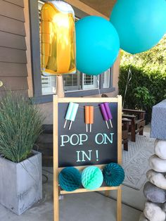 A ready to pop baby shower. When I found out my best friend was having a baby boy we wanted to shower her with a fun popsicle inspired baby shower. Fiesta Baby Shower, Baby Shower Games, Baby Shower Parties, Baby Boy Shower, Popsicle Party, Ice Cream Theme, Pop Baby Showers, Kindergarten, Ready To Pop