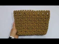 Macrame Bag, Macrame Knots, Crochet Pouf Pattern, Handmade Bags, Diy And Crafts, Make It Yourself, Knitting, Nice, Knots