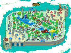 League of Legends pixel art map illustration