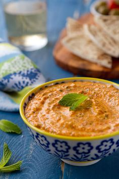 Kopanisti dip - a roasted red pepper and feta dip bursting with flavor!