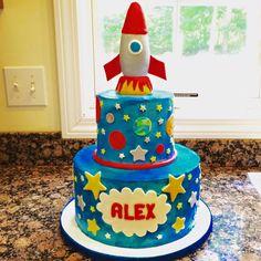 Space rocket ship cake SweetsBySindy