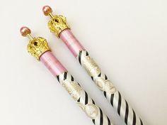 Crown Mechanical Pencil  Black Stripes 1 pc Korean by TinyBees