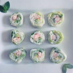 Avocado & Shrimp Makis/Spring rolls
