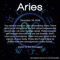 december 10 horoscope aries aries