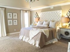 Master Bedroom — Designs by Katie Grace - Neutral, chic