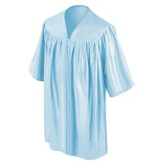 CHILD'S LIGHT BLUE CHOIR ROBE  • Light Blue Premium Shiny Tricot Fabric  • Sleek, non-see-through shiny finish  • Reinforced stitching throughout the child's choir robe • Strong center pleats on the front of the kids choir robe • Comfortable darted yoke giving the robe strong structure • Sturdy zipper construction with a color matching light blue zipper • Each Light Blue Child's Choral Robe comes packaged in its own poly bag