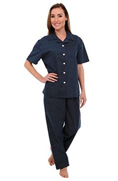 a4bc84edf5c64 Del Rossa Women s Cotton Pajamas
