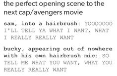 Ohmygosh I am imagining this. They have to put it in one of the movies!!!