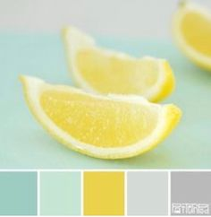 Lemon mint color palette I'm in love with color mint right now. This is going to be the palette for my new bedroom. Mint Color Palettes, Colour Pallette, Colour Schemes, Color Combos, Modern Color Palette, Pastel Palette, Design Seeds, Kitchen Colors, Kitchen Color Schemes