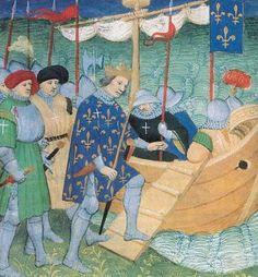 Départ croisades:le roi louis IX à aigues mortes