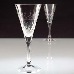 2 Vintage Sektgläser TREVIRIS Kristallglas Glas mundgeblasen Sektglas W2D