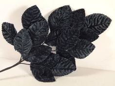 New Velvet Leaves Navy Blue Millinery Hats Costumes Fascinator Crafts Bouquets #crafts #bluevelvetleaves