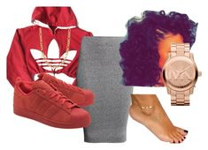 """""""Pretty Girl Slay"""" by beautyqueen-927 ❤ liked on Polyvore featuring adidas, H&M, adidas Originals, Fremada and Michael Kors"""