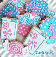 Sweet Shoppe Cookies Candy Shop Decorated Sugar by CookieCoterie, $24.00